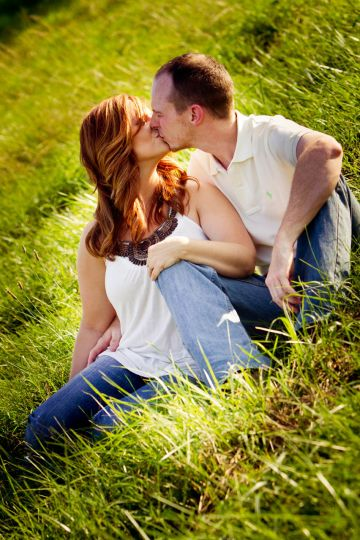 Beautiful engagement session in the meadow